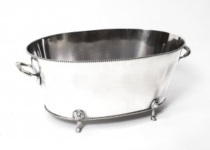 Silver Plated Oval Champagne Cooler