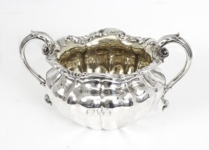 Antique William IV Sterling Silver Sugar Bowl by Paul Storr 1830