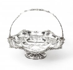 Antique Victorian Silver Plated Fruit Basket John Figg London