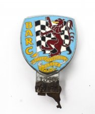 Vintage BARC automobile badge with 3 others Mid 20th Century