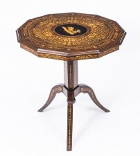 Antique Italian Sorrento Tilt Top Occasional Table