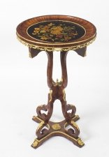 Antique French Floral Marquetry Kingwood Occasional Table