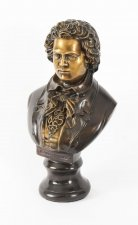 Vintage Bronze Sculpture of Ludwig von Beethoven 20th Century