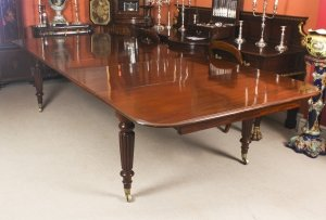 Antique 11 ft Flame Mahogany Extending Dining Table