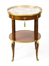 Antique French Louis Revival Marble & Ormolu Occasional Table 19th C
