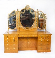 Antique Satinwood & Marquetry Dressing Table Waring & Gillow 19th C