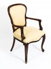 Antique French Louis Revival Arm chair Cabriole leg 19th C