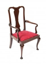Antique Queen Anne Revival Mahogany Child& 39 s Chair C1920