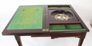 Antique Victorian Mahogany Games Roulette Table 19th C