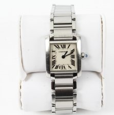Vintage Cartier Tank Francaise Stainless Steel Ladies Watch 21st Century
