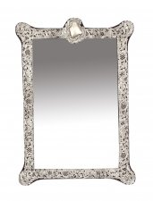 Antique Monumental Victorian Silver Easel Mirror John & William Deakin 1901