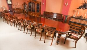 Bespoke Huge Handmade 20ft Dining Table & 20 chairs 21st Century