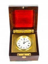 Mahogany Cased Mahogany Travel Clock by Tiffany & Co Mid 20th Century