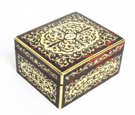 Antique Asprey Tortoiseshell & Brass Boulle Marquetry Box 19th C