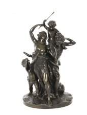 Antique Bronze Sculpture & 34 The Triumph of Bacchus& 34 signed Clodion 19th C