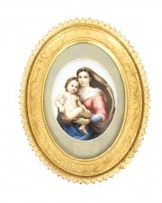 Antique Berlin KPM Plaque of Madonna & Child 19th Century