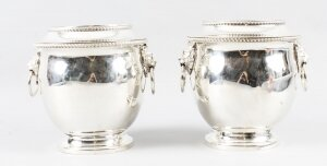 Antique Pair Old Sheffield Regency Wine Coolers C1820 19th Century
