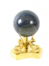 Antique Polished Lapis Lazuli and Ormolu Sphere Circa 1860 19th Century