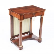 Antique English Empire Console Writing Side Table 19th Century