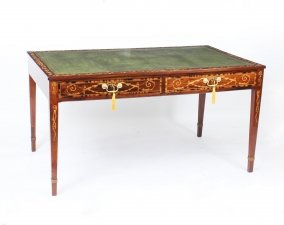 Antique George III Walnut Library Writing Table Desk C1780 18th Century