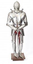 Antique 6ft 1& 34 Complete Set of Greenwich Style Tudor Armour C1920