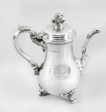 Antique George IV Silver Coffee Pot by Paul Storr London 1826 19th Century