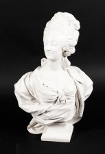 Beautifully Sculpted Composite Marble Bust of Marie Antoinette late 20th Cent