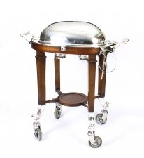 Antique Art Deco Silver Plated Beef Carving Trolley Beef Wagon C1930