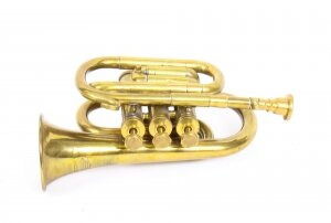 Vintage Brass Cornet Trumpet by Boosey London Heley C. 1950 Mid 20th Century