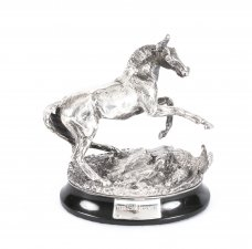 Sterling Silver Figure of a Horse London Import Jubilee Marks 1977