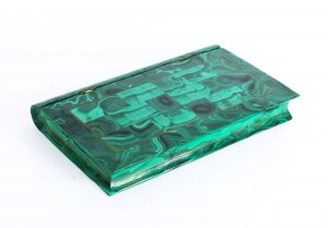 Antique Russian Malachite Book Form Box With Mineral Specimens Circa 1900