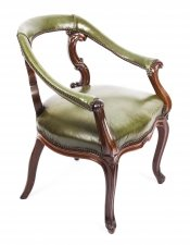 Antique Victorian Mahogany Library Chair Armchair C1860 19th Century