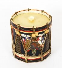 Vintage Military Ice Bucket with Scots Guard Royal Coat of Arms Mid 20th Century