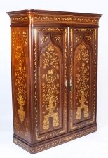Antique Dutch Mahogany & Marquetry Wardrobe C1840 19th C