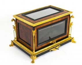 Antique French Kingwood and Ormolu Mounted Cigar Humidor 19th C