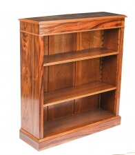 Bespoke Mid Century Modernist Revival Low Rosewood Open Bookcase