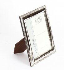 Sterling Silver mounted rectangular photo frames by Carr& 39 s of Sheffield Ltd.,