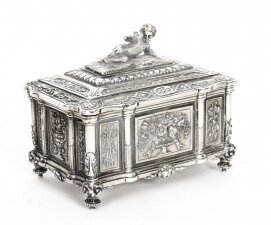 Antique Victorian Silver plated casket by Mappin & Webb 19th Century