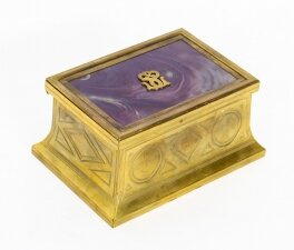 Antique Victorian Ormolu and Glass jewellery casket C1870 19th Cent