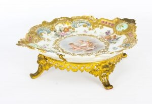Antique French Porcelain & Ormolu Mounted Centerpiece Mid 19th C