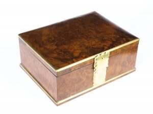 Antique Victorian Aspreys Burr Walnut Casket Jewellery Box 19th C