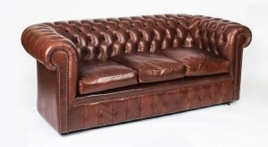 Bespoke English Button Back Leather Chesterfield Hazel
