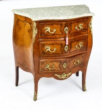 Antique French Louis Revival Marquetry Commode 19th Century