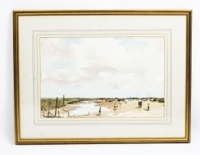 Vintage Watercolour Landscape by Edward Wesson Circa 1960 Mid 20th C
