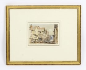 Antique Watercolour George Pyne by Circa 1840