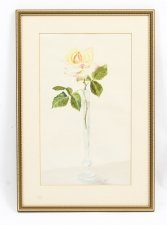 Vintage Watercolour Still Life of a Rose Circa 1950