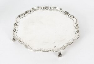 Antique Silver Plated Salver by Maple & Co 19th Century