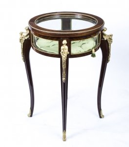 Gorgeous Louis XVI Circular Rosewood Display Table