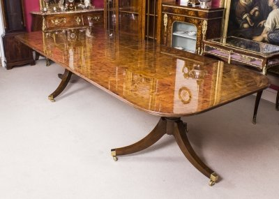 Burr Walnut Regency Crossbanded Dining Conference Table Ref No - Regency conference table