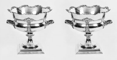 Fabulous Pair of Sheffield Silver Plated Wine Coolers